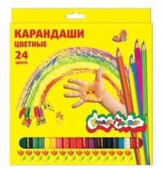 Карандаши цветные шестигранные Каляка-маляка, 24 цвета