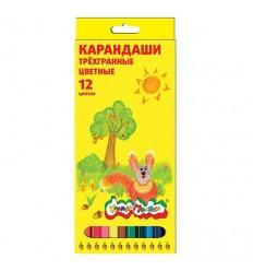 Карандаши цветные трехгранные Каляка-маляка, 12 цветов