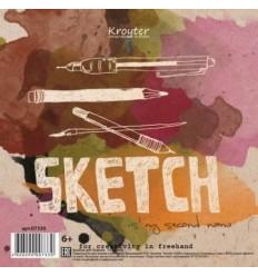 Альбом для эскизов Kroyter Эко 200х200, 70л., 90гр., спираль