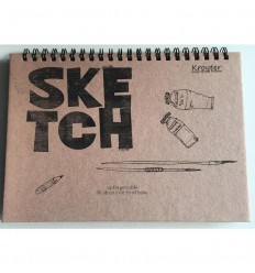 Альбом для рисования и эскизов Kroyter Эко крафт, А5 (205x145мм), 30л., 140гр., спираль