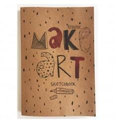 Альбом для эскизов Kroyter Эко, A5(145×205мм), 40л., 70гр., бумага крафт, на скобе