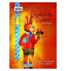 Альбом для эскизов Kroyter Робин, А4 (207x294мм), 30л., 160гр., спираль
