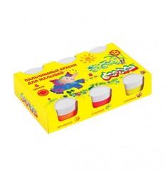 Пальчиковые краски для малышей Каляка-маляка, 6 цветов по 60мл
