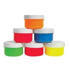 Пальчиковые краски флуорицентные Каляка-маляка, 6 цветов по 60мл