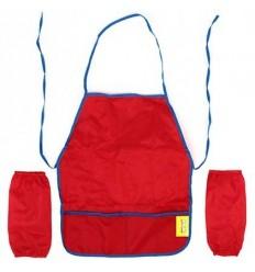 Фартук для труда с нарукавниками Каляка-Маляка, ткань, 4-7 лет, красный