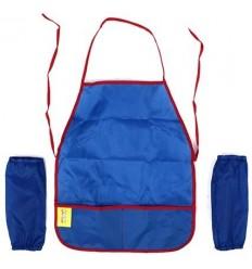 Фартук для труда с нарукавниками Каляка-Маляка, ткань, 4-7 лет, синий