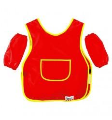 Фартук для труда с нарукавниками Каляка-Маляка, ткань, 2-5 лет, красный