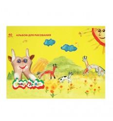 Альбом для рисования Каляка-Маляка А4, 40 листов, скрепка