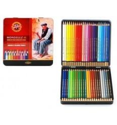Набор акварельных цветных карандашей Koh-I-Noor MONDELUZ 3726, металлическая коробка, 48 цветов