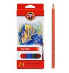 Набор акварельных цветных карандашей Koh-I-Noor AQUARELL Рыбки 3718, 24 цвета