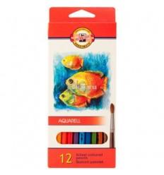 Набор акварельных цветных карандашей Koh-I-Noor AQUARELL Рыбки 3716, 12 цветов