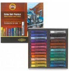 Пастель сухая KOH-I-NOOR TOISON D'OR extra-soft pastels, экстра мягкая, 24 цвета