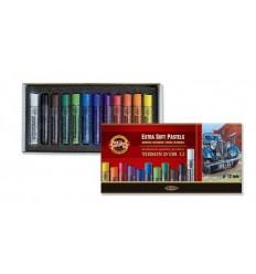 Пастель сухая KOH-I-NOOR TOISON D'OR extra-soft pastels, экстра мягкая, 12 цветов