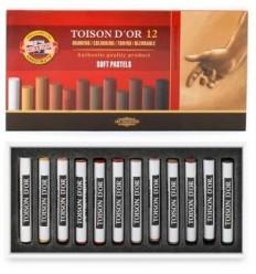 Пастель сухая KOH-I-NOOR TOISON D'OR, 12 цветов коричневых оттенков