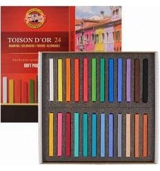 Пастель сухая KOH-I-NOOR TOISON D'OR Soft Pastels, 24 цвета