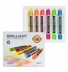 Пастель сухая KOH-I-NOOR BRILLIANT Soft Pastels, 6 флуоресцентных цветов