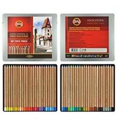 Набор цветных пастельных карандашей KOH-I-NOOR Gioconda, 48 цветов в металлической коробке