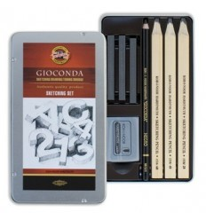 Набор Koh-I-Noor Gioconda Sketching Set 8892, 8 предметов в металлической коробке