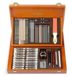 Набор для графики Koh-I-Noor Gioconda Sketching Set 8895, 39 предметов в деревянной коробке