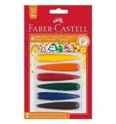 Цветные восковые мелки FABER-CASTELL, 6 цветов в блистере