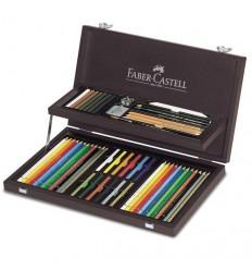 Художественный профессиональный набор FABER-CASTELL ART&GRAPHIC Collection, 54 предмета, в деревянном пенале
