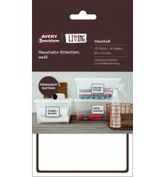 Этикетки для дома Avery Zweckform Living, 97х73мм, белые, полиэстер, 5 листов 10 этикеток