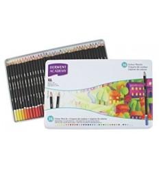 Набор цветных карандашей Academy DERWENT 36 цветов в металлической коробке