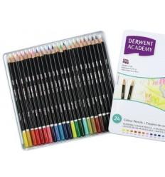 Набор карандашей Academy DERWENT 24 цвета в металлической коробке