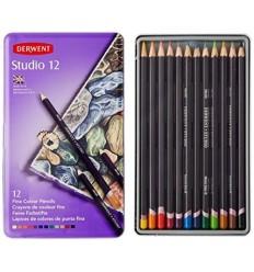 Набор цветных карандашей Derwent Studio 12 цветов, в металлической коробке
