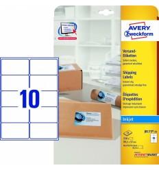 Этикетки для рассылок 99,1x57мм, Avery Zweckform, 25 листов, 250 этикеток, J8173-25