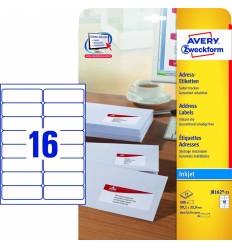 Этикетки адресные белые с фотокачеством Avery Zweckform, 99,1х33,9мм/ 16шт на листе, 25 листов, 400 этикеток, J8162-25