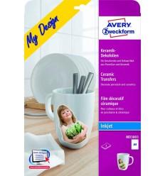 Пленка для перевода изображений для керамики Avery Zweckform А4, 2 листа