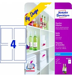 Этикетки для бутылок Avery Zweckform 90х120мм, 5 листов