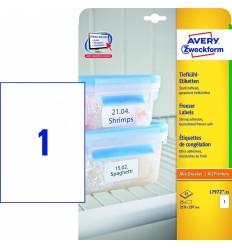 Морозостойкие универсальные этикетки Avery Zweckform, 210х297мм/ 1шт на листе, 25 листов