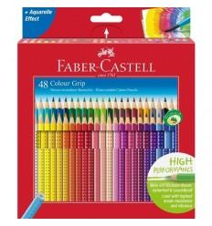 Набор цветных трехгранных карандашей FABER-CASTELL GRIP 2001, 48 цветов