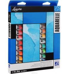 Набор акварели LEFRANC&BOURGEOIS LOUVRE 24 цвета по 10 мл в тубах