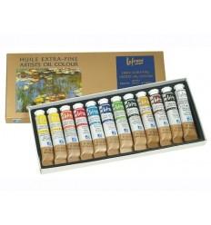 Набор масляных красок Lefranc Bourgeois EXTRA FINE, 12 туб по 20мл