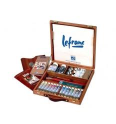 Набор масляных красок Lefranc Bourgeois EXTRA FINE Corot, 14 туб по 20мл в деревянном ящике