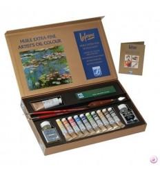 Набор масляных красок Lefranc Bourgeois EXTRA FINE Discovery, 10 туб по 20мл с аксессуарами в картонной коробке