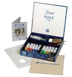 Набор масляных красок Lefranc Bourgeois FINE, 10 туб по 20мл с аксессуарами в подарочной коробке