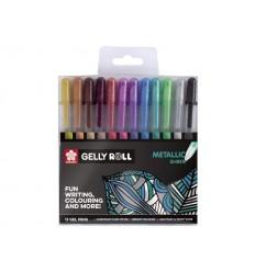 Набор гелевых ручек SAKURA Gelly Roll Metallic, 12 перламутровых цвета