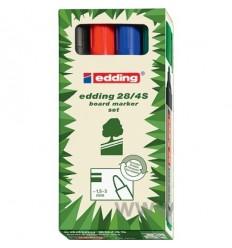 Набор маркер для досок EDDING E-28 EcoLine 1,5-3мм круглый наконечник, 4 цвета