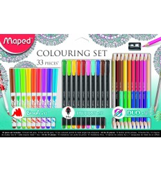 Набор MAPED COLOURING SET 33 предмкта ( 12 карандашей, 10 фломастеров, 10 капиляр. ручек, точилка)