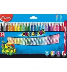 Фломастеры Maped COLOR PEPS JUNGLE 24 цвета