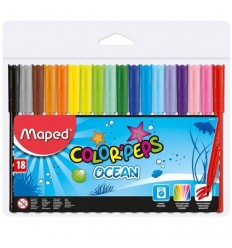 Фломастеры Maped COLOR PEPS OCEAN 12 цветов