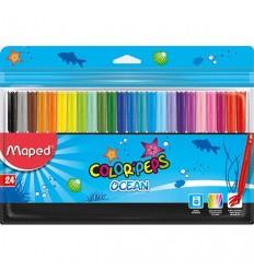 Фломастеры Maped COLOR PEPS OCEAN 24 цвета