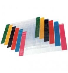 Обложка прозрачная с цветным клапаном для тетрадей и дневников А5 210х346мм, 100мкм, ПВХ, 1шт