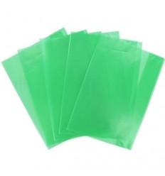 Набор обложек для тетрадей и дневников Panta Plast А4 305х485мм, 95мкм, зеленые, 5шт