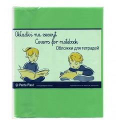Набор обложек для тетрадей и дневников Panta Plast А5 210х348мм, 95мкм, зеленые, 5шт