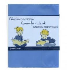 Набор обложек для тетрадей и дневников Panta Plast А5 210х348мм, 95мкм, голубые, 5шт